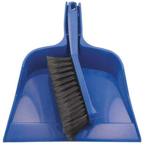 "Tough Guy 13E198 Black 12""L Dust Pan and Brush Set"