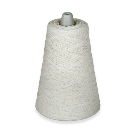 Natural Cotton Warp Yarn, 800 Yards, White 4 Ply Wool Yarn