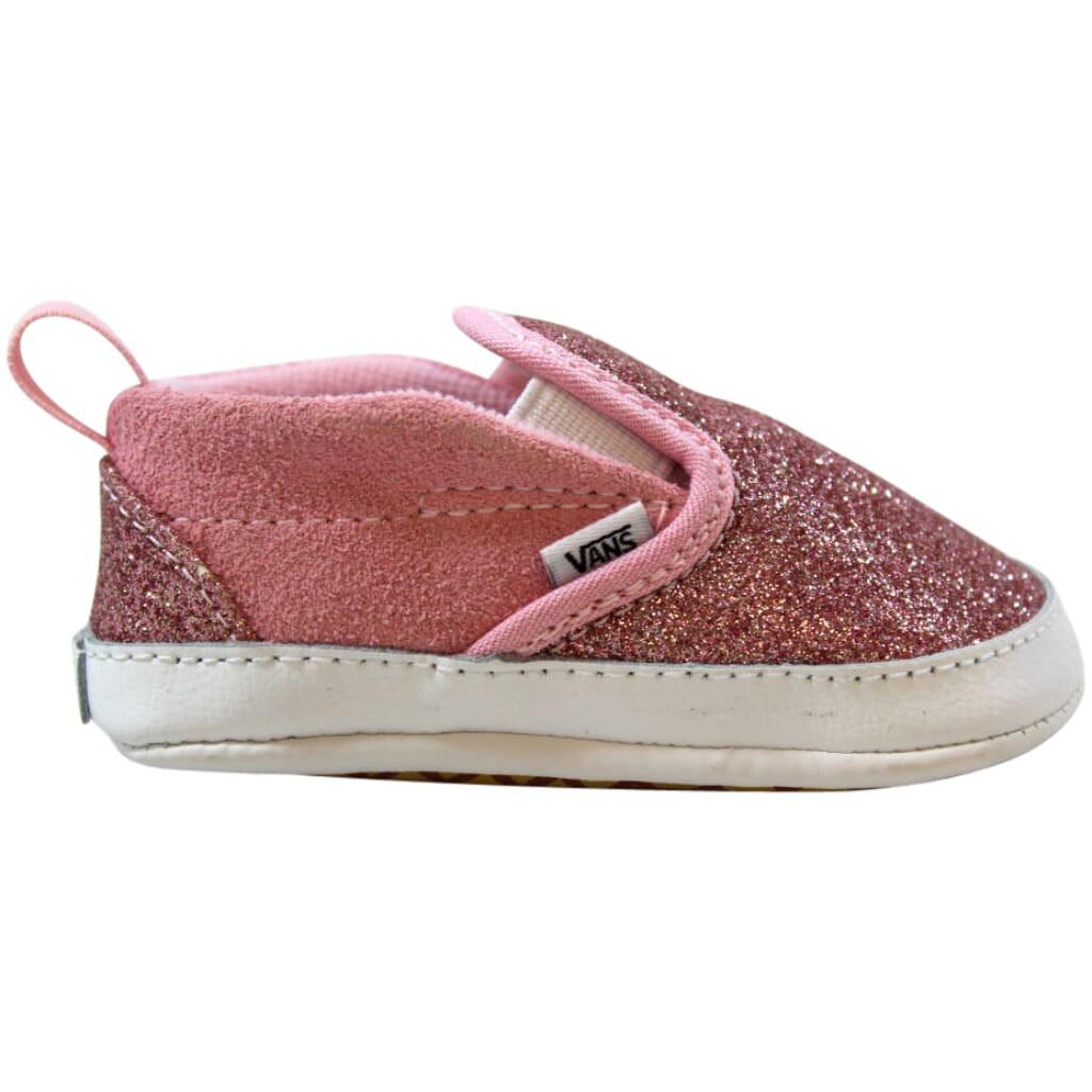 Vans Slip-On V Crib Bright Pink Shimmer