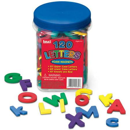 LAURI Magnetic Letters, 120pc - Plastic Magnetic Letters