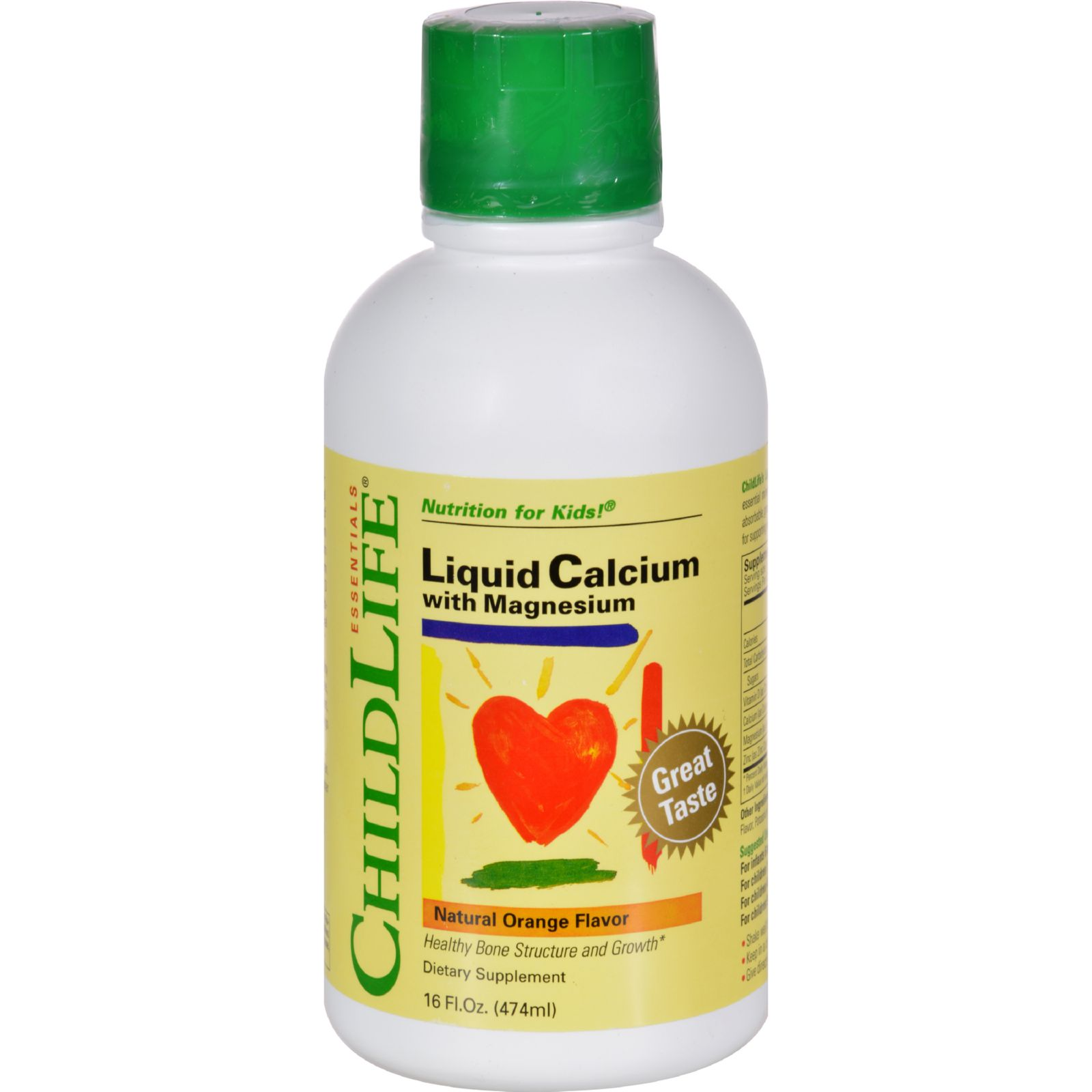 ChildLife Liquid Calcium with Magnesium, Orange, 16 Oz