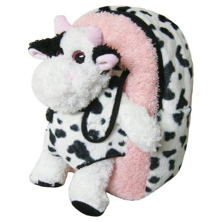 Kreative Kids Girls Pink Cow Removable Plush Stuffed Animal Backpack (Stuffed Animal Cow)