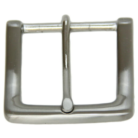 Large Square Replacement Belt Buckle For 1 1/2 Inch Width Brushed Nickel - Brushed Buckle