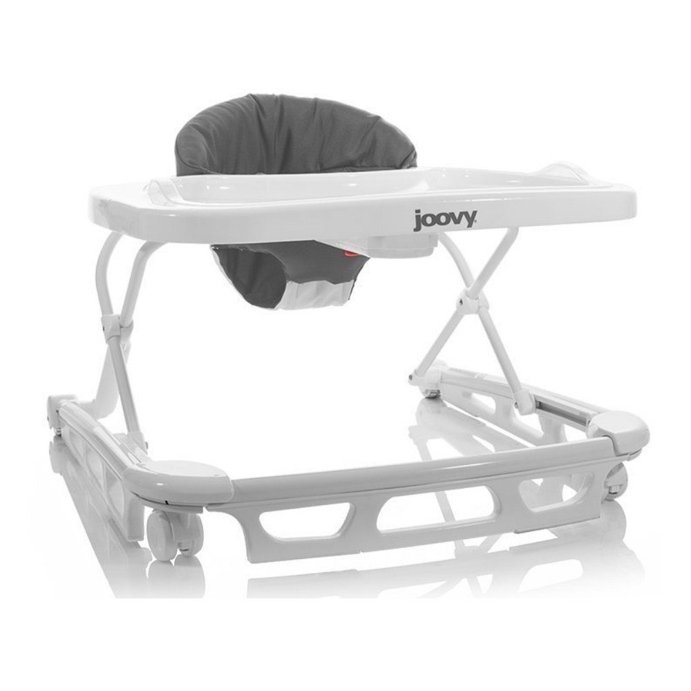 Joovy Spoon Baby Walker with Dishwasher Safe Tray Insert, Charcoal