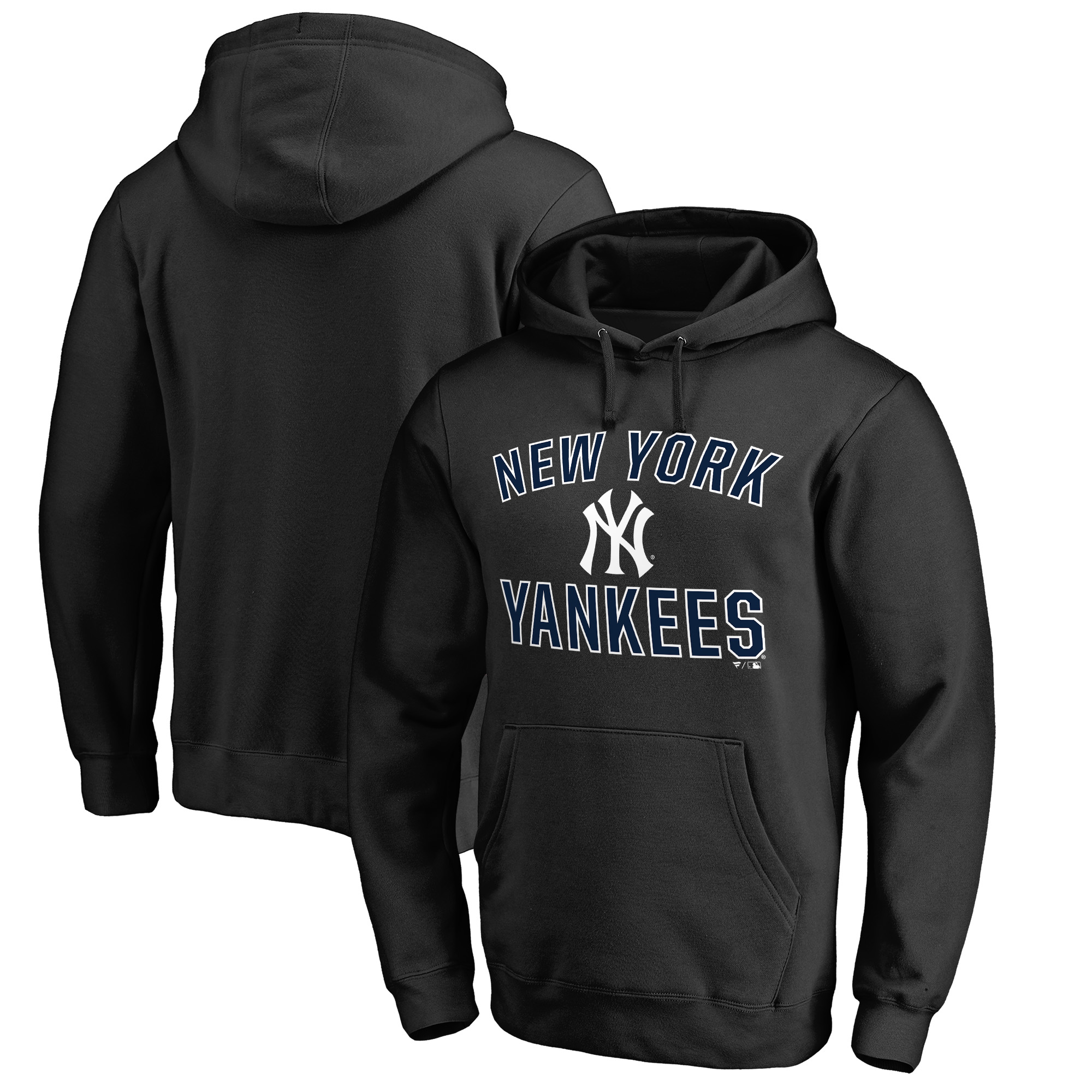 New York Yankees Fanatics Branded Team Victory Arch Pullover Hoodie - Black