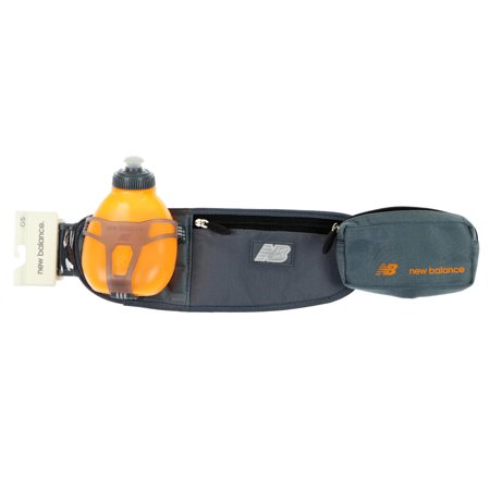 New Balance Unisex Helium H1O One Water Bottle Hydration Waistpack Gray Orange - Helium Bottle