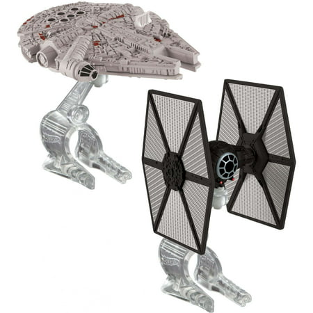 Hot Wheels Star Wars First Order Tie Fighter vs. Millennium Falcon](Millennium Falcon Rc)