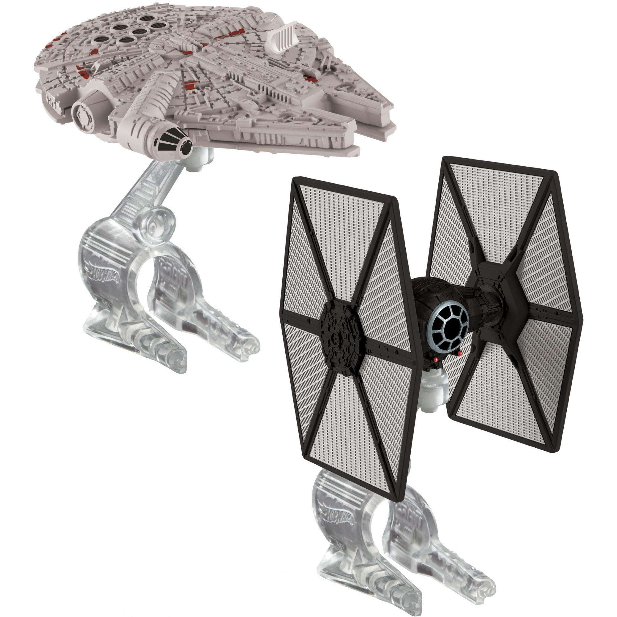 Hot Wheels Star Wars First Order Tie Fighter vs. Millennium Falcon