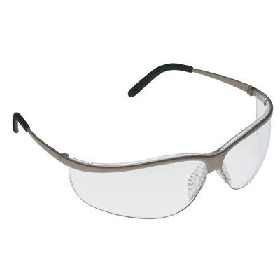 Aearo Technologies Sport Safety Glasses With Brushed Nickel Metal Frame And Clear Anti-Fog Lens (10 Per Box)