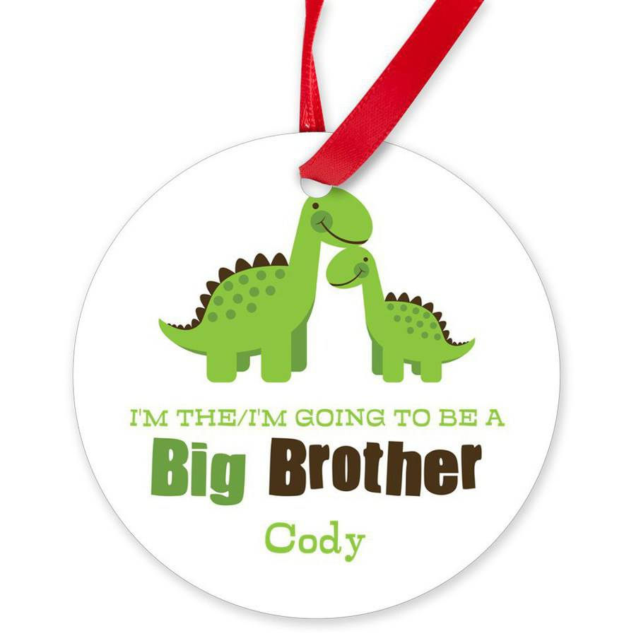CafePress Personalized Big Brother Dinos Round Ornament