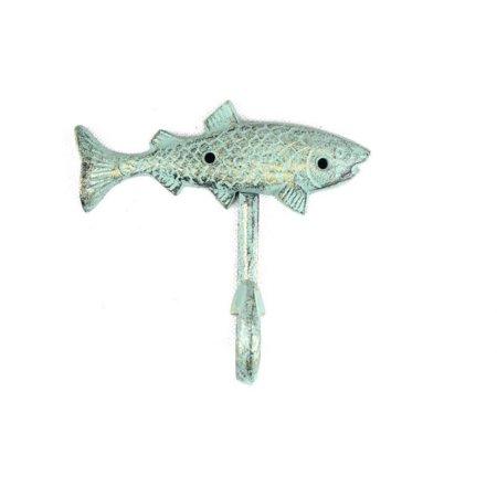Antique Bronze Cast Iron Fish Key Hook 6