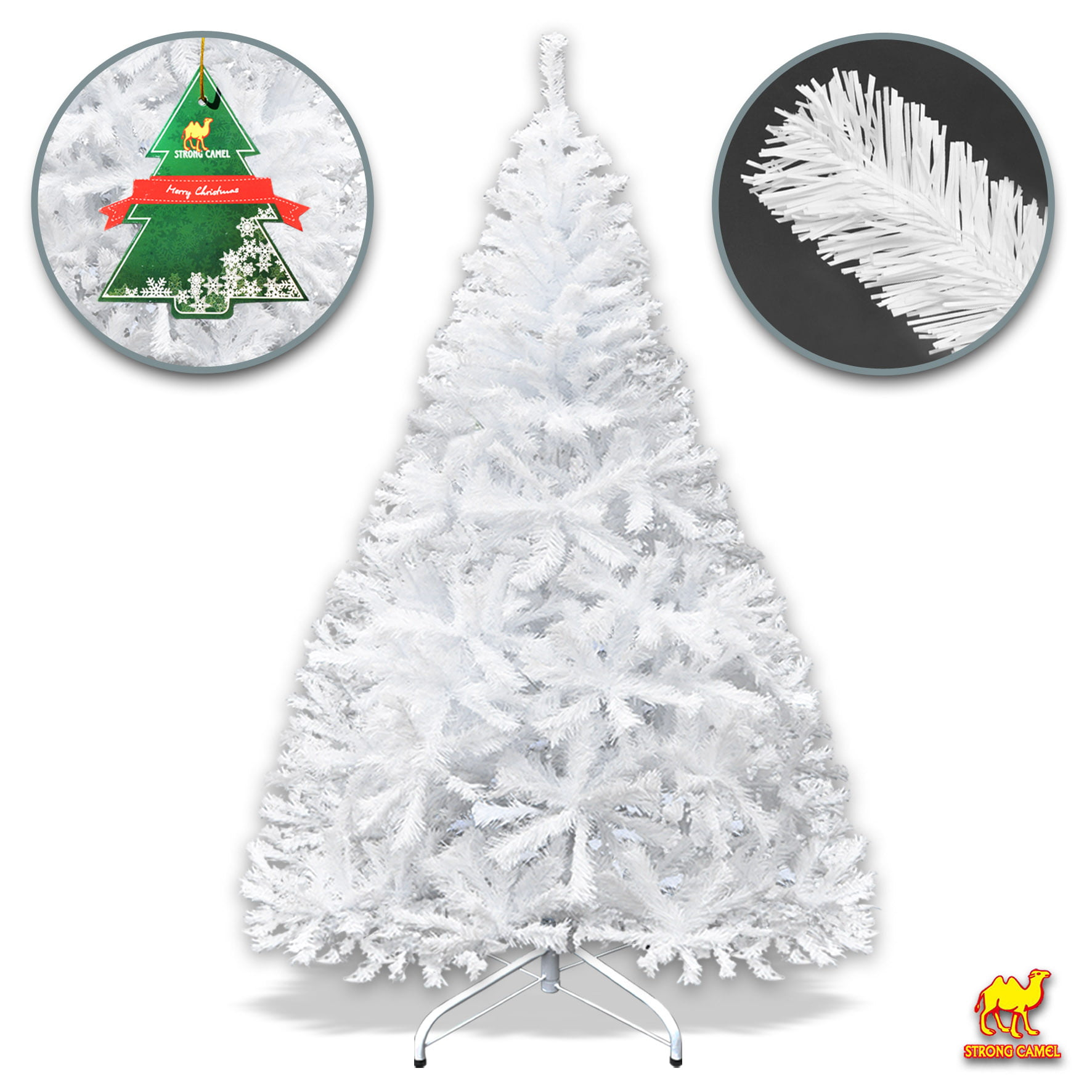 Strong Camel White Classic Pine Christmas Tree Artificial ...
