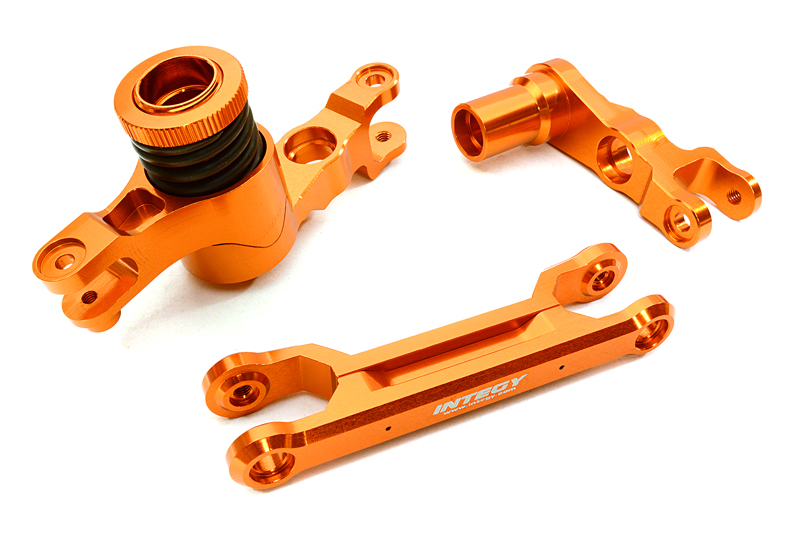 Integy RC Toy Model Hop-ups C26944ORANGE Billet Machined Steering Bell Crank Set for... by Integy