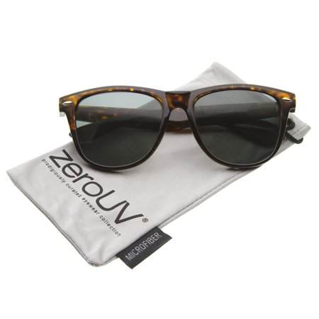 zeroUV - Large Retro Classic Glass Lens Casual Horn Rimmed Sunglasses - 54mm Complete your look with these classic square horn rimmed sunglasses.