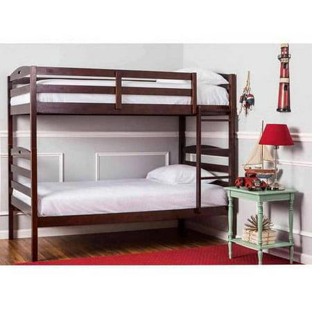 - Dream On Me Nova 2-in-1 Convertible Twin Over Twin Wood Bunk Bed, Espresso