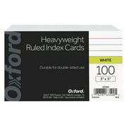 Oxford Ruled Heavyweight Index Cards, 3 x 5 Inches, 100 Pack