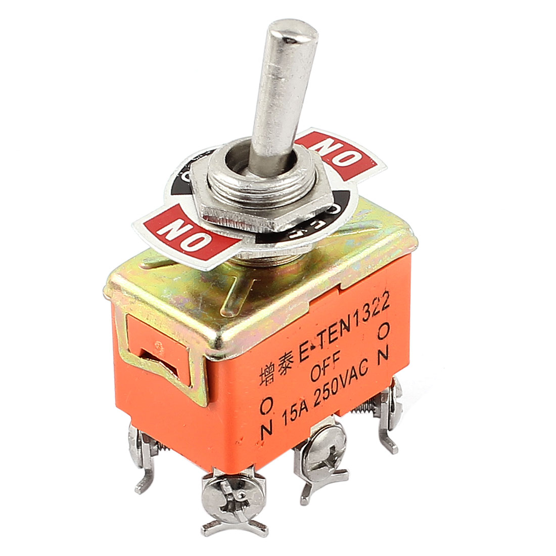 250V 15A DPDT 6 Terminals 3-Position ON-OFF-ON Toggle Flick Switch - image 3 of 3