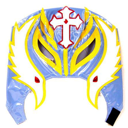 WWE Wrestling Rey Mysterio Replica Mask [Youth, Light Blue & Yellow] for $<!---->