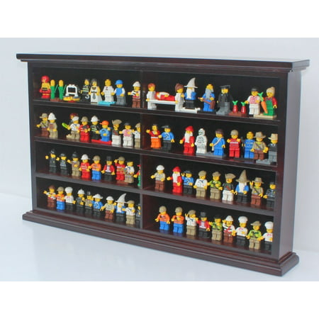 - Kid-Safe LEGO Minifigures Miniature Action Figures Display Case Wall Cabinet Stand, Solid Wood