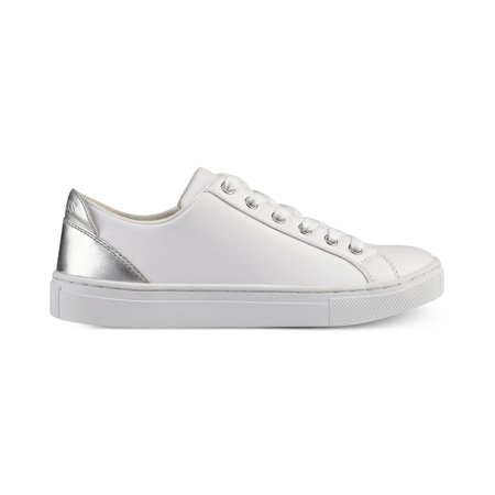 GUESS Womens Jacaly Leather Low Top Lace Up Fashion Sneakers White LL Size 7.0