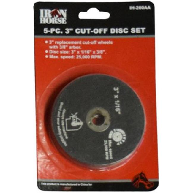 Wood Industries IH-260AA 3 in. Cut-Off Disc Set, Black - image 1 of 1