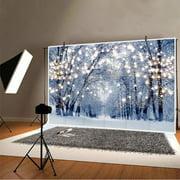 Winter Scene Bokeh Glitter Snow Forest Wonderland Snowflake Photography Background Backdrop Christmas Party Kid Photo Studio Prop 210x150/250x180cm