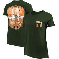 Miami Hurricanes Pressbox Women's Lacy Jade Boyfriend T-Shirt - Green