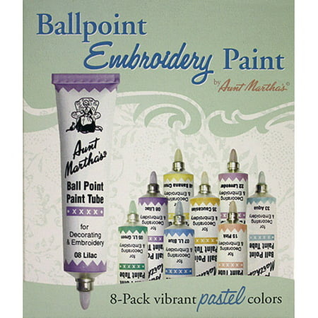 1 Oz Floquil Model Paint - Aunt Martha's Ballpoint Paint Tubes 1 oz, Pastel Colors, 8/pkg