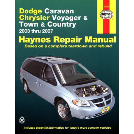 Haynes Repair Manuals Dodge Caravan  Chrysler Voyager Town   Country  03 07
