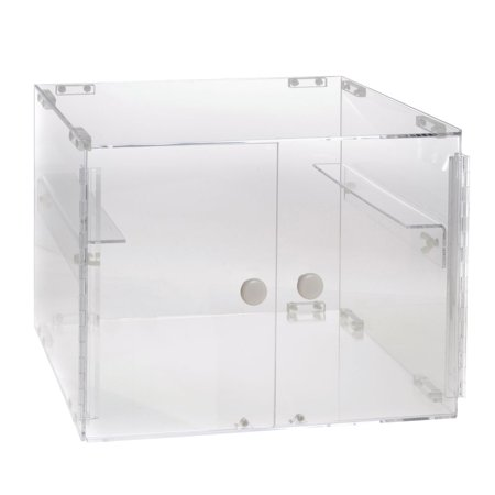 """Stackable Countertop Display Case 2-Tier Rectangular Clear Acrylic - 19"""" L x 15 1/4 W x 14 1/2 H"""