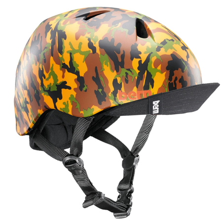 Eps Summer Bicycle Helmet (Bern Nino Summer Kids Helmet XS/S Tan Camo Bicycle Skate Bike Child Safety)