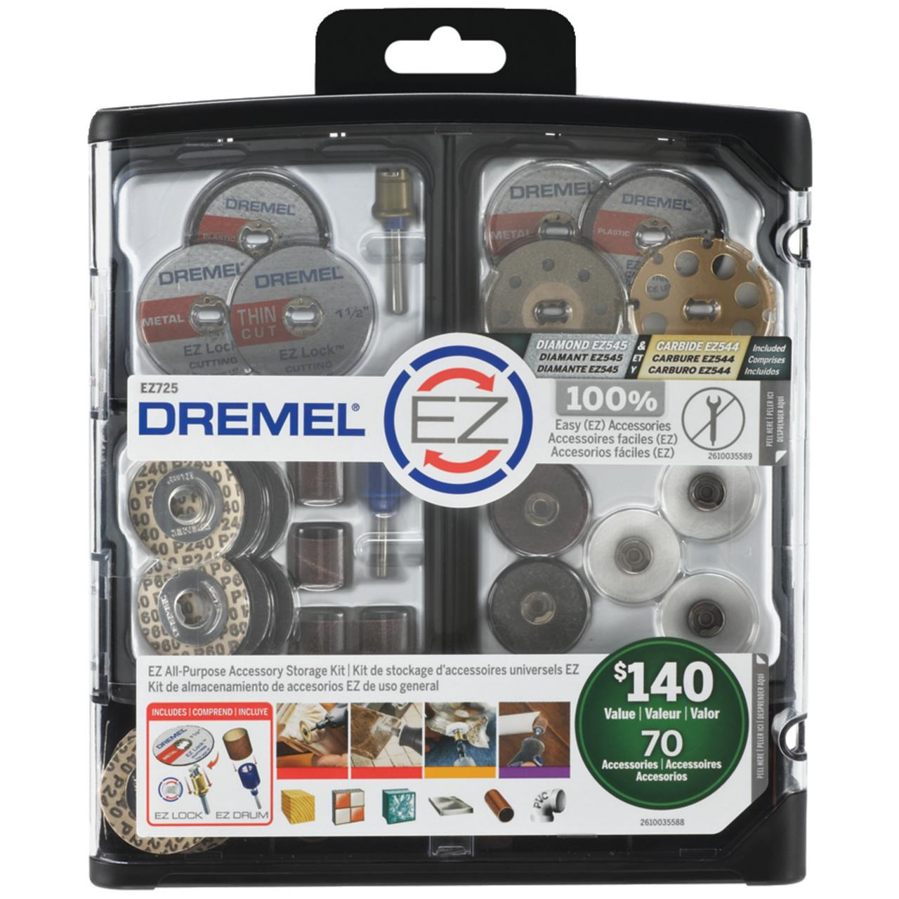 Dremel EZ725 70-Piece Ez All-purpose Accessory Storage Kit