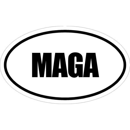 """3"""" Printed Euro style oval MAGA decal sticker d?cor great size for MUG Phone case Hard Hats and Helmets. Sticker"""