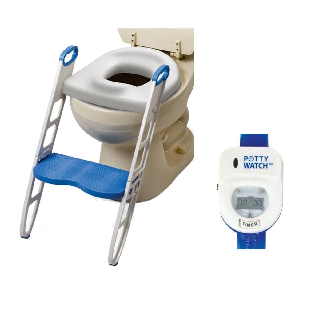 Mommy's Helper Contoured Cushie Step Up with Potty Watch Potty Training Device, Blue by Mommy%27s Helper