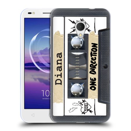 OFFICIAL ONE DIRECTION CASSETTES SOFT GEL CASE FOR ALCATEL (Best Phone On The Market Right Now)