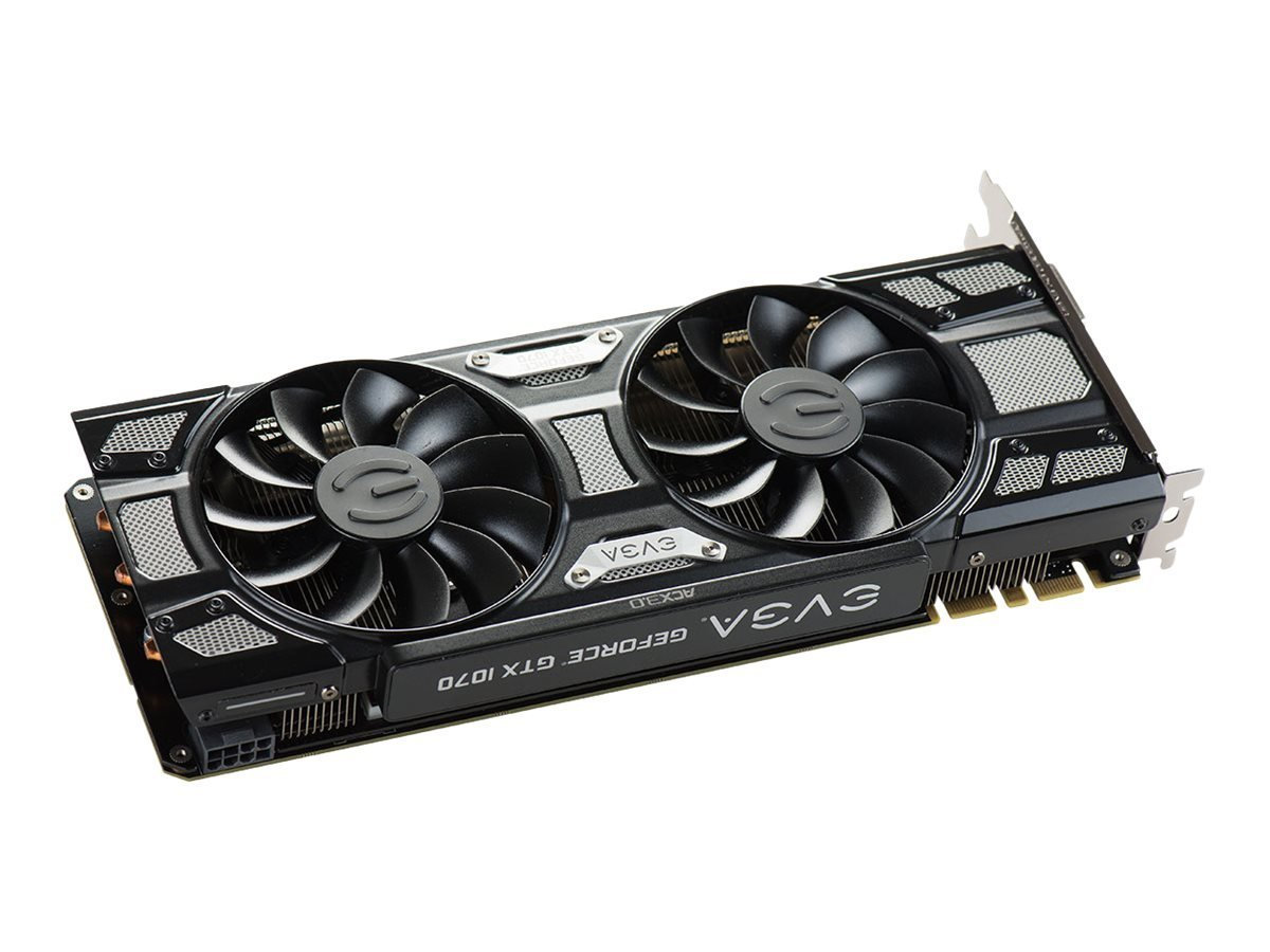 EVGA Geforce GTX 1070 GAMING ACX 3.0 black Edition Graphics Card Graphic Cards 08G-P4-5171-KR by EVGA