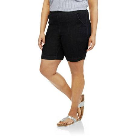 130f23ff22d Just My Size - Women s Plus-Size 2 Pocket Pull-On Shorts - Walmart.com