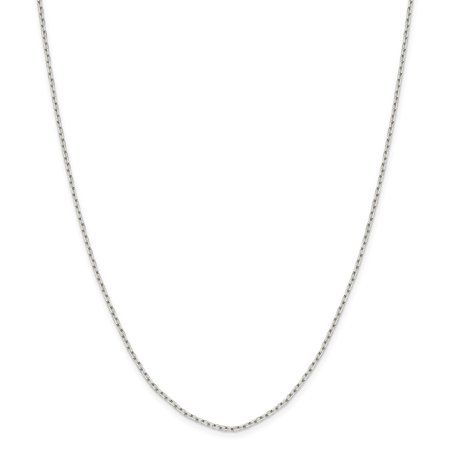 Sterling Silver Octagon Spring Ring 1.65mm 8 Sided Sparkle-Cut Cable Chain Necklace - Length: 16 to