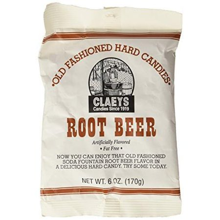 Root Beer Hard Candy (Claey's Fat-Free Old Fashioned Root Beer Hard Candies, 6 Oz. )
