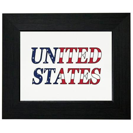 Usa Flag 4Th July Independence Framed Print Poster Wall Or Desk Mount Options