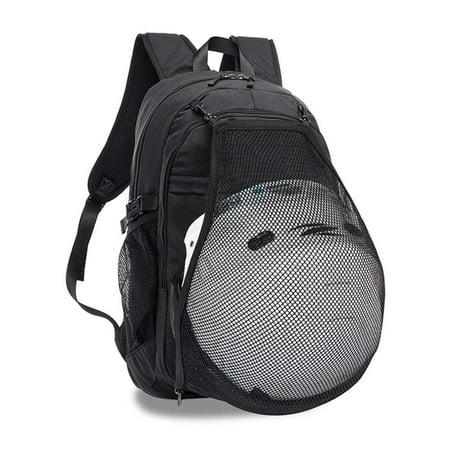 Basketball Backpack College Student Bookbag Quality Laptop bag mesh Ball holder