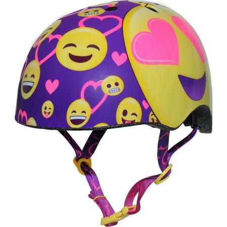 Raskullz Smile Child Bike Helmet Yellow/Purple