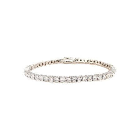 1 Row Diamond White Gold Finish Tennis Bracelet 7 Inches 0.25 Ct