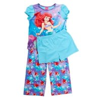 Disney Little Girls' Little Mermaid Ariel Toddler Fantasy Nightgown, Ariel Long Sleeve, Size: 3T