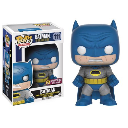 Pop Heroes Dark Knight Returns Batman Blue Vinyl Figure - Batman Props