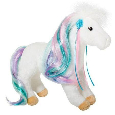 Rainbow Princess White Horse 12 inch - Stuffed Animal by Douglas Cuddle Toys ()