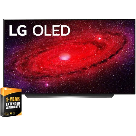 LG OLED77CXPUA 77inch CX 4K Smart OLED TV with AI ThinQ 2020 Bundle with 1 Year Extended Warranty(OLED77CX 77CX 77 TV)