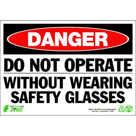 "Danger Sign, Zing, 1096, 7""Hx10""W"