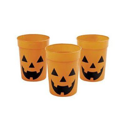 12 halloween jack o lantern party cups - sturdy and reusable](History Of Jack O Lanterns On Halloween)