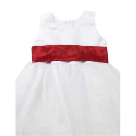 Initronics F861-046 Rose Petal Flower Girl Dresses Easter Wedding Princess - Size 6, Ivory White